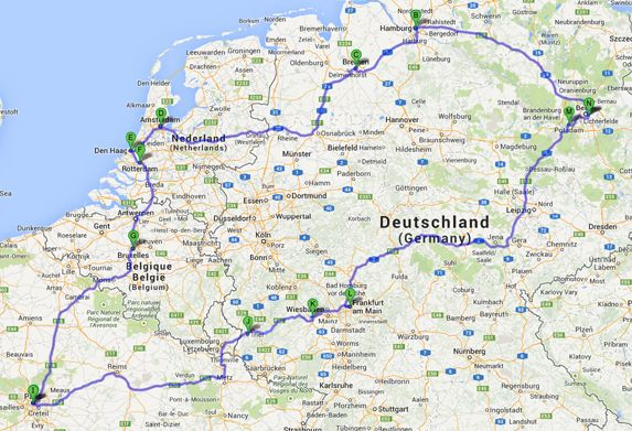 柏林在德国的地图