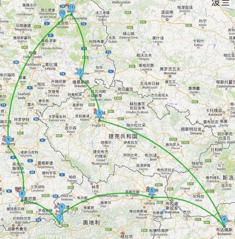 德国柏林旅游地图
