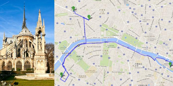 巴黎铁塔公园地图